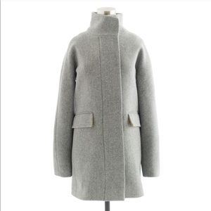 J. Crew Grey Stadium Cloth Cocoon Coat